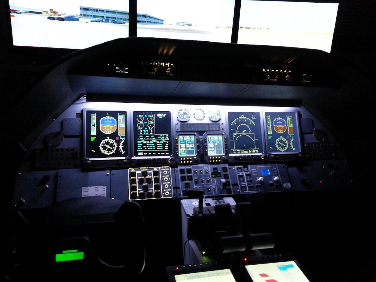 Eric German Learjet Cockpit